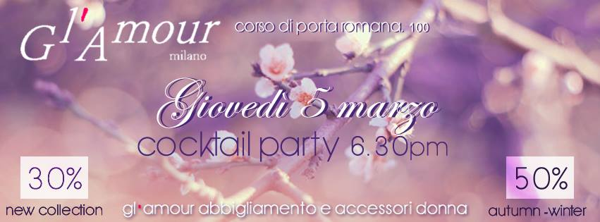 Gl'Amour – Sale & New Collection – Cocktail Party