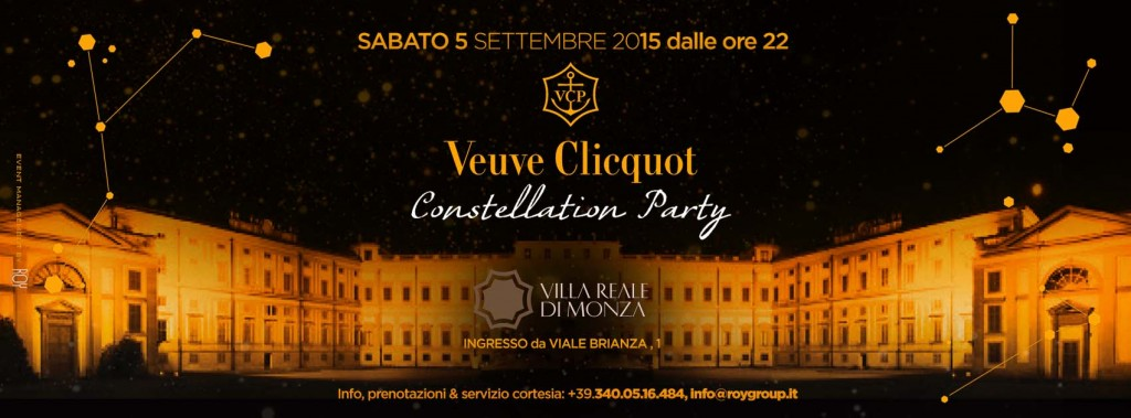 "VEUVE CLICQUOT ""CONSTELLATION PARTY"" – VILLA REALE DI MONZA"