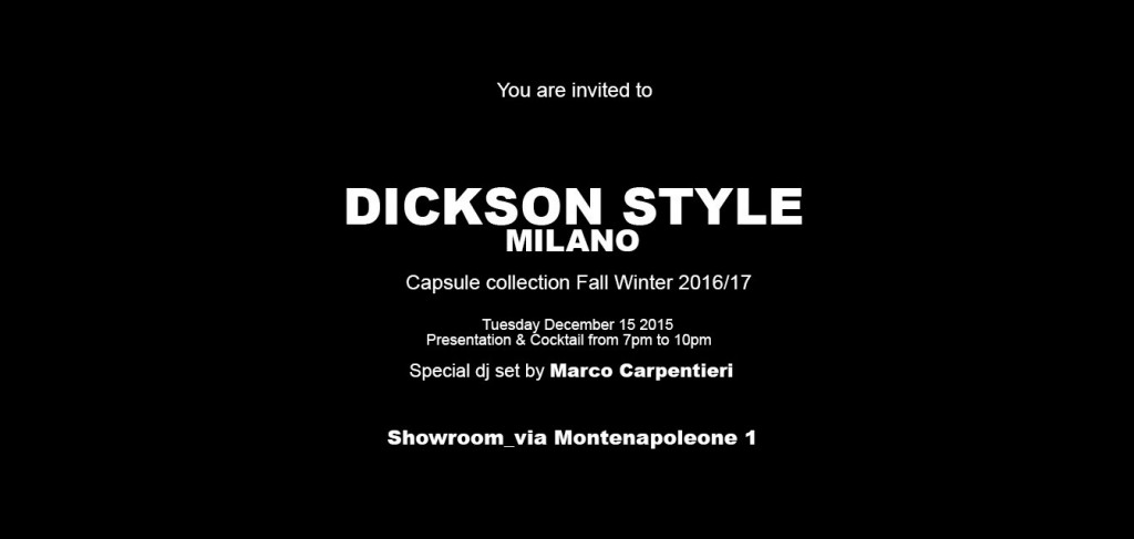 15.12 DICKSON STYLE MILANO COCKTAIL PARTY