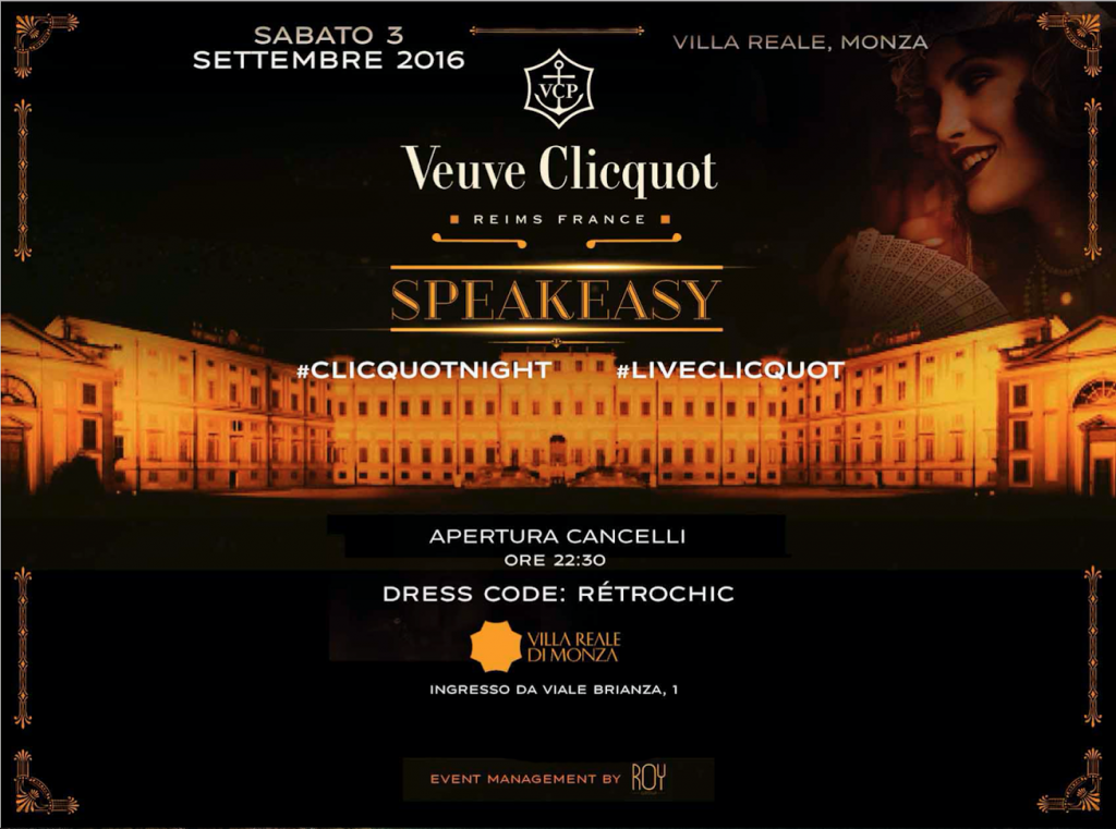 Official Veuve Clicquot Party F1 @ Villa Reale Monza