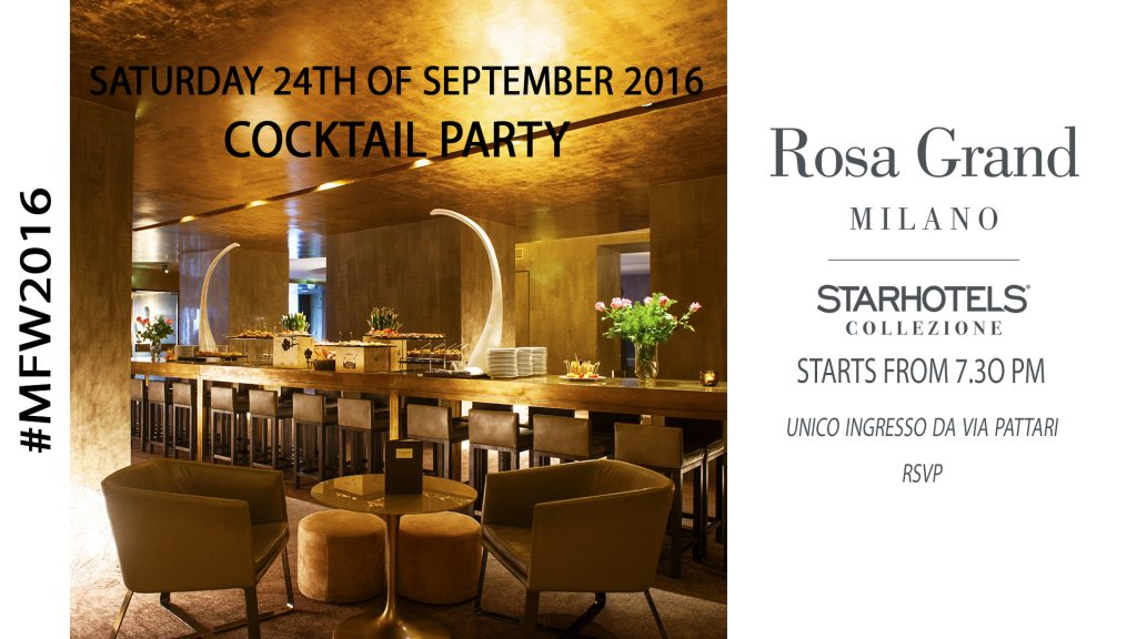 MFW 2016 24.09 – Cocktail Party Starhotels ROSA GRAND