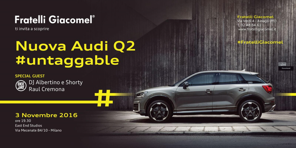03.11 LAUNCH NEW AUDI Q2 #untaggable
