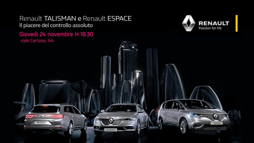 24.11 Renault TALISMAN & ESPACE con sistema 4CONTROL