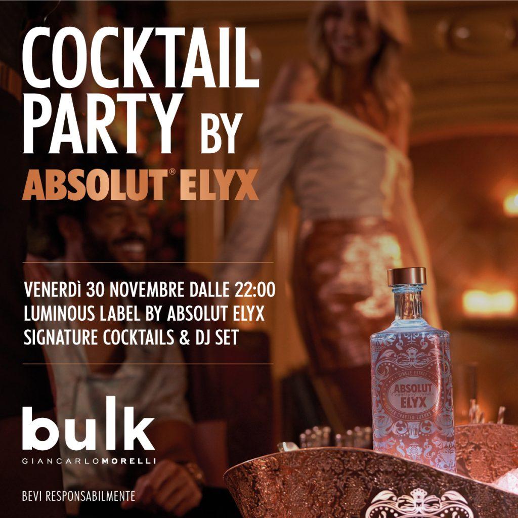30.11 |  Luminous Label Special Edition by Absolut Elyx @ Bulk Mixology