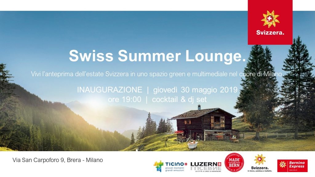 30.05 | Inaugurazione SWISS SUMMER LOUNGE