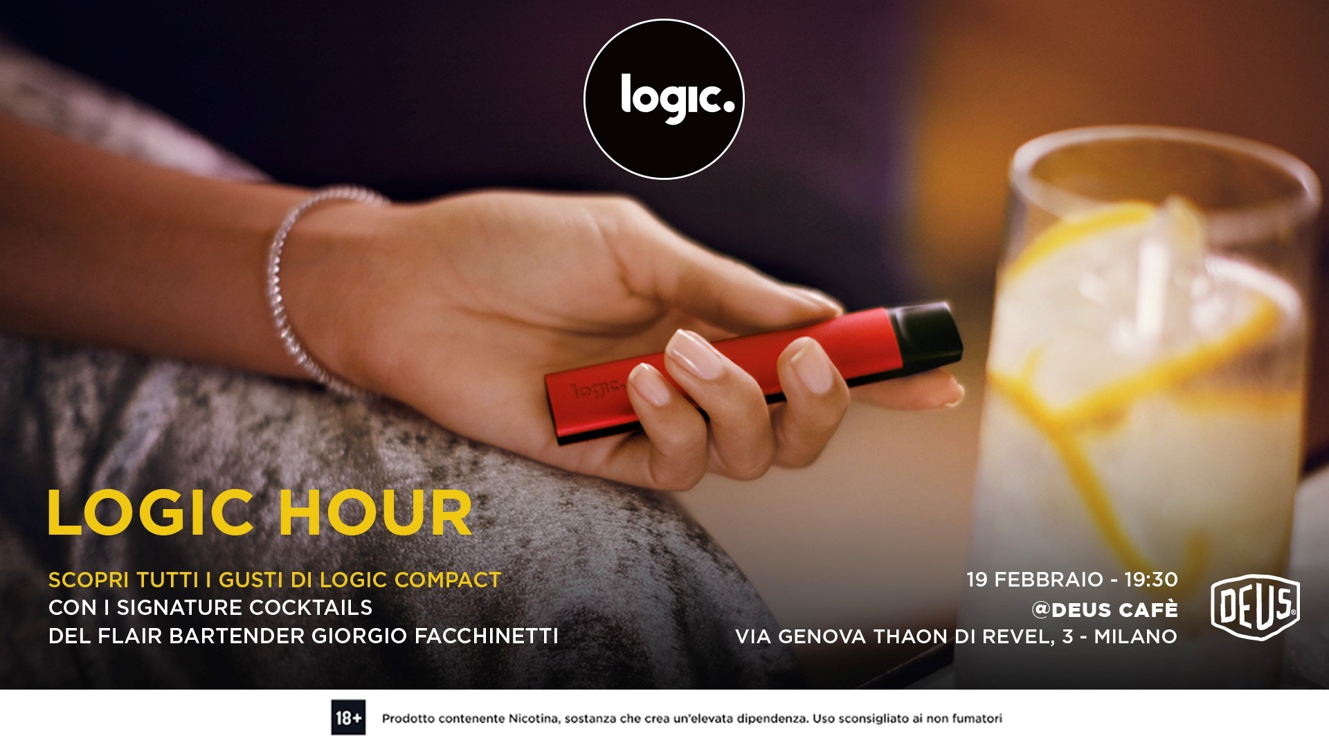 19.2 LOGIC HOUR/ Private Party @Deus Café