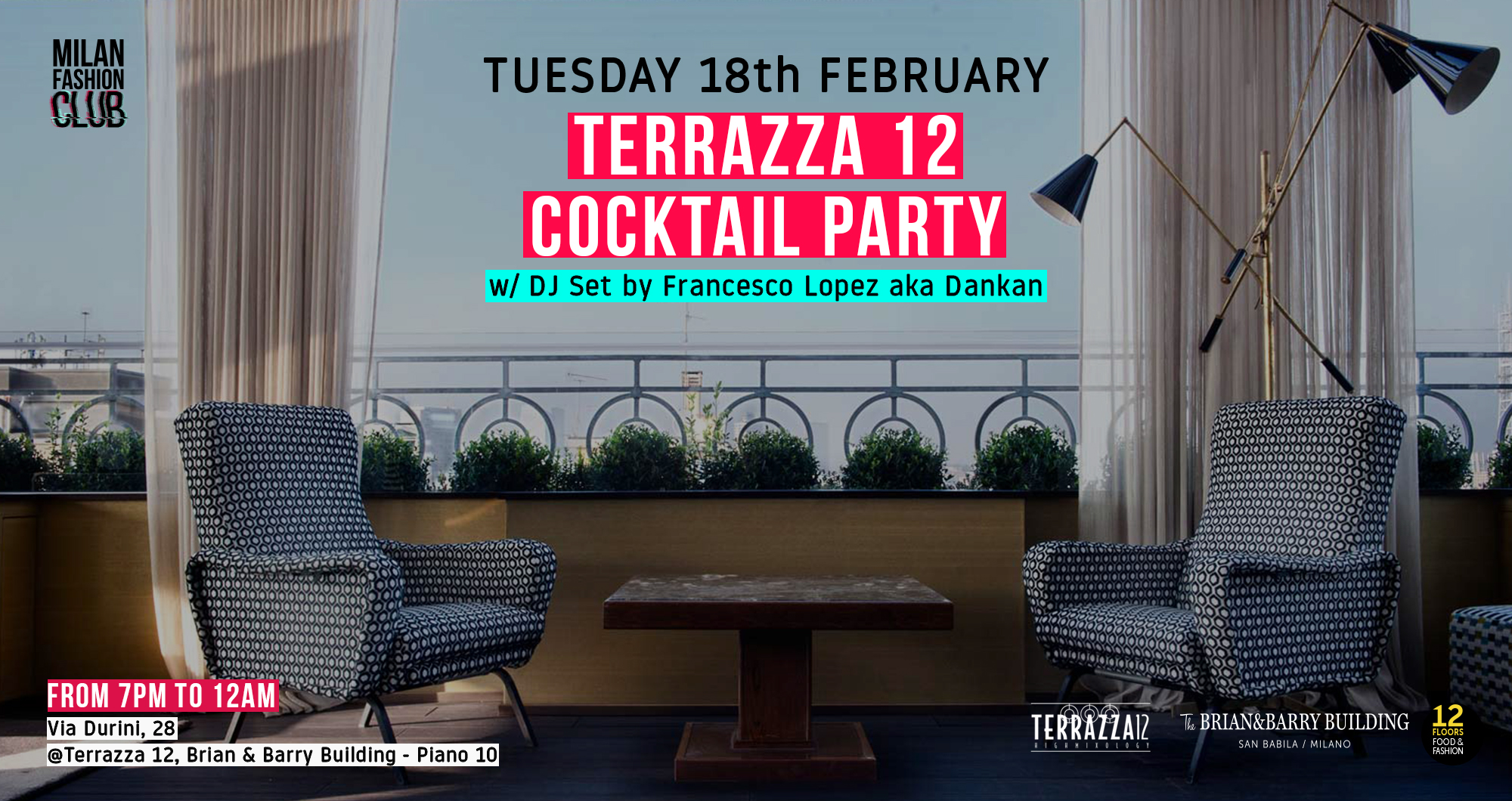 18.02 | MFC – Terrazza 12 Cocktail Party